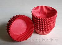 Бумажные формы для выпечки кексов  №7 50шт (красные)