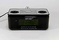 Часы YJ 8118, Радиоприемник-часы Happy Sheep, сетевые часы с радио, часы с ФМ, настольные электронные часы