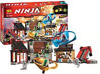 "Конструктор ниндзяго Ninja ""АЭРОДЖИТЦУ: ПОЛЕ БИТВЫ"" (аналог LEGO Ninjago 70590) 686 детали , фото 1"