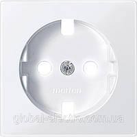 Накладка для розетки с заземл. конт и шторками, полярно-белый. MTN2330-0319