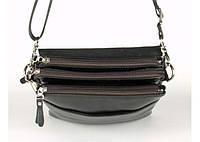 Мужская сумка Bradford 8885-3 черная средняя на три змейки искусственная кожа размер 22х27х7см