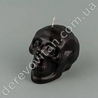 """Свеча """"Череп"""", черная, 6.5 × 7.5 см"""