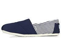 Мужская обувь Toms Classic Deep Blue/White