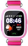 Детские умные GPS часы Q90 / РОЗОВЫЕ / Гарантия 12 мес