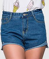 Синие женские джинсовые шорты (8702 sk)
