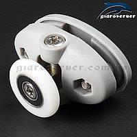 Ролики для душевых кабин R-39B с диаметрами колес от 19 до 27 мм.