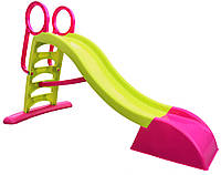 Горка детская игровая пластиковая 180 см XL с лестницей и подключением воды(горка-волна,горка спуск)