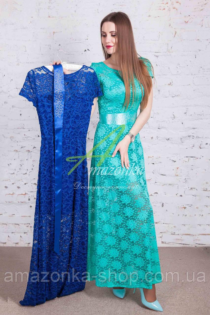 Выпускное нарядное платье в пол от производителя - Код пл-214