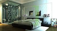 Дизайн-проект интерьера - спальная комната panel
