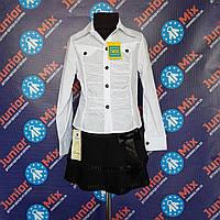 Школьная детская белая блузка х/б  для девочки  MB