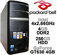 Packard Bell - 4x2.66GHz /4GB DDR2 /GeForce GT630 4GB /250GB HDD