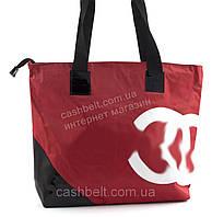 Вместительная прочная тканевая женская сумка Аркадия БН art. 1 красная