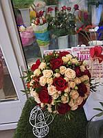 Букет невесты с мелкой розой