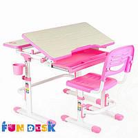 Комплект парта и стул-трансформеры FunDesk Lavoro Pink