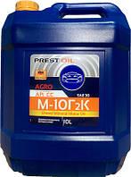 Масло моторне дизельне мінеральне PREST OIL М10Г2К AGRO CC 10л