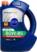 Масло мінеральне трансмісійне PREST OIL 80w85 ACTIVE GL-4 4л