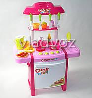 Детская игрушечная кухня со звуком, плита для девочки 2 конфорки happy kitchen белая духовка