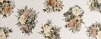 Арабеско белая цветы 230х600