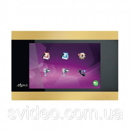 Сенсорный видеодомофон Myers M-75SD Touch Gold , низкая цена, установка, подключение