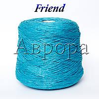 Friend яркая бирюза  ( 89% хлопок, 11 % ПА, 160м/100г).
