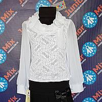 Школьная детская гипюровая блузка для девочки  AGATKA