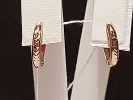 Золотые серьги с алмазной гранью. Артикул 470488