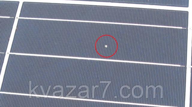 мусор в солнечной батарее