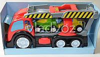 Машинка автовоз красный + 2 гоночные машинки Keenway Formula световые и музыкальные эффекты