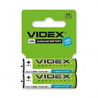 Батарейка щелочная LR6/AA 1.5V 2шт. в упаковке Videx