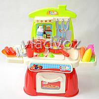 Детская пластиковая кухня для девочки, плита 2 камфорки Cooking set Chef