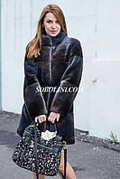 Шуба из канадского бобра, с отделкой из норки. Коллекция Соболини 2017, фото 1