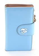 Голубой вертикальный женский кошелек на кнопке Б/Н art. 1502, фото 1