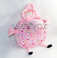 Детская сумка розовая круглая свинка пеппа