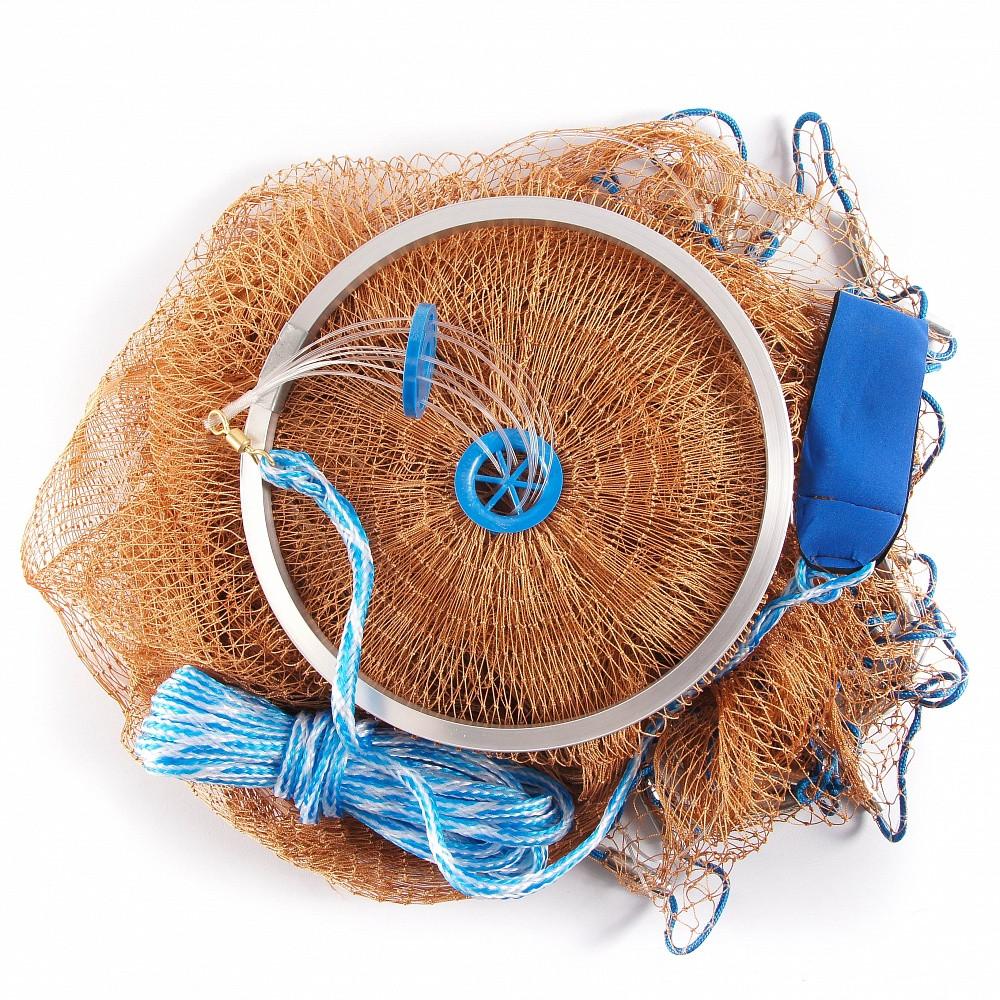 Кастинговая сеть Американка капроновая, парашют рыбацкий, диаметр 4 м. для промышленного лова - Интернет-магазин Наш Кинжал  в Киеве