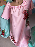 Мини платье летнее с вышивкой