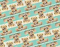 "Подарочная бумага для упаковки  "" Мишка Тедди  "" , размер 707х1000 мм"