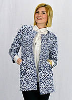 Женский кардиган в модный принт горохи