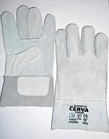 Перчатки замшевые серые