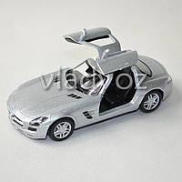 Машинка Mercedes-Benz SLS AMG метал 1:36 серебристая