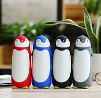 Термос Пингвин, Детская термокружка пингвин, Детский термос, кружка термос, термос 0,3, Компактный термос