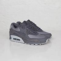 Женские кроссовки Nike Air Max 90 Premium Dark Grey/Wolf Grey