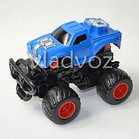 Машинка инерционная Джип монстр синий 11 см.
