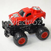Машинка инерционная Джип монстр красный 11 см.