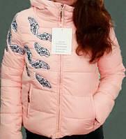 Красивая и модная подростковая и женская недорогая куртка с принтом р. 36-42