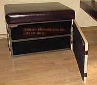 """Пуф-обувной шкаф """"Никко"""" 450х600хвысота 420мм Кожзам Родео, фото 1"""