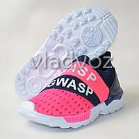 Кроссовки для девочки розовая сетка модель 32р.