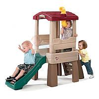 """Горка-башня детская """"Перископ"""" Step2 - CША - Второй этаж оснащен окнами, подзорной трубой и террасой"""
