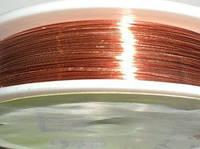 Проволока для бижутерии 1645 красное золото  0.3 мм, фото 1