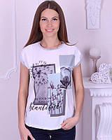 Женская футболка котон с принтом