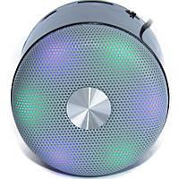 Портативная bluetooth колонка WS-Y90B Cо светомузыкой + ПОДАРОК: Наушники для Apple iPhone 5 -- БЕЛЫЕ MDR IP